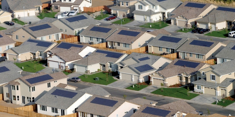 California homes with Solar PV