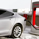 image of Tesla electric vehicle charging