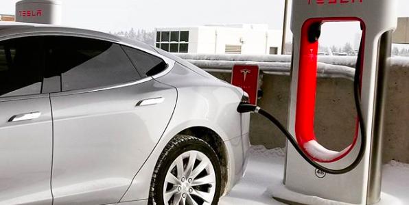 image of Tesla electric vehicle charging