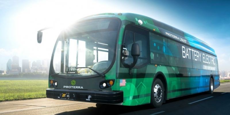 image of electric bus where batteries will be reused and recycled