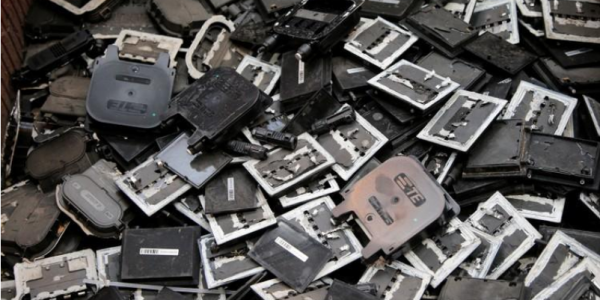 image of solar panel recycling components