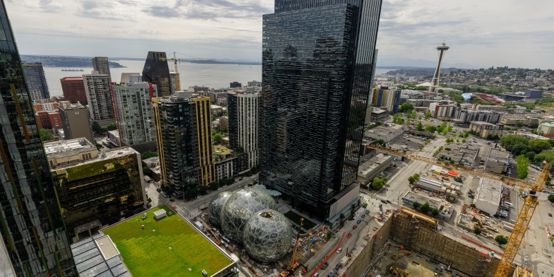 image of amazon campus headquarters in seattle