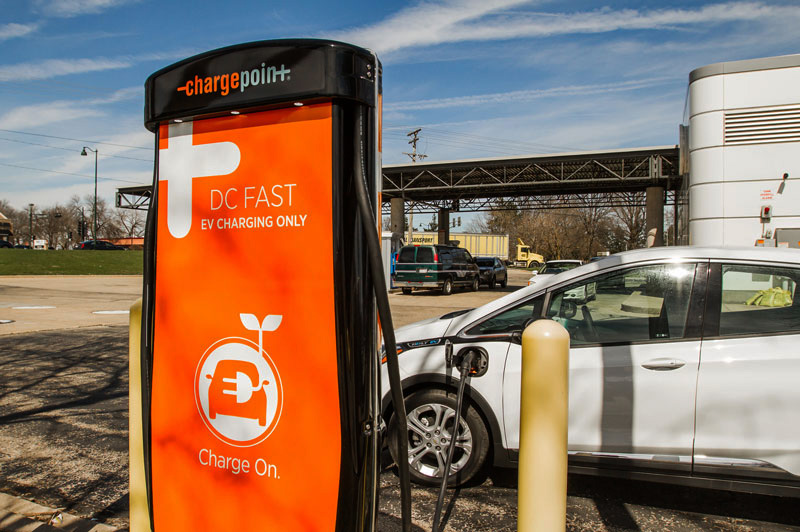 Dc Fast Charge Station Commercial Ev Charging