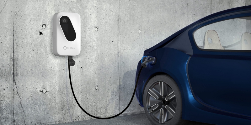 image of sonnen ev charger powering car with solar