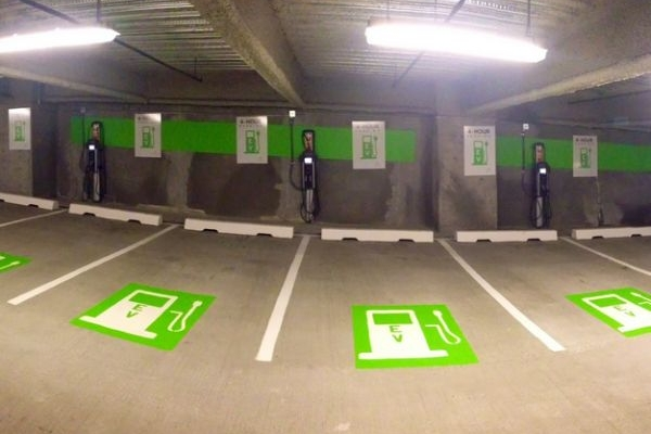 image of EV charging stations in condo