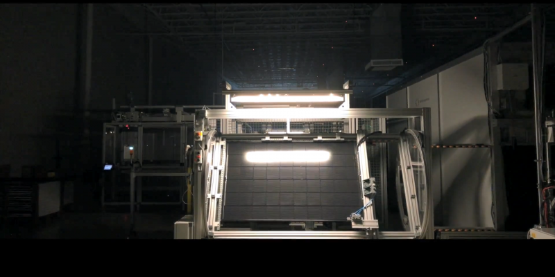 image of solar panel testing to improve efficiency