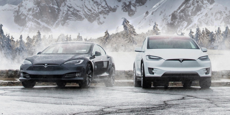 image of electric vehicle with Canadian background