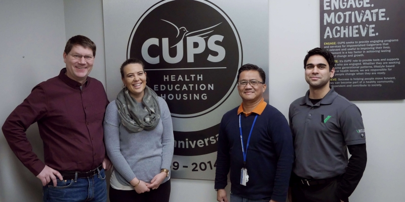 image of CUPS and VE staff after LED installation