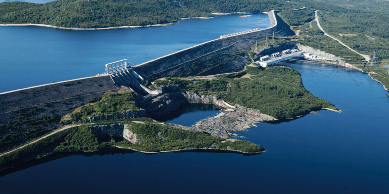 image of hydroelectric power plant in Quebec, Canada
