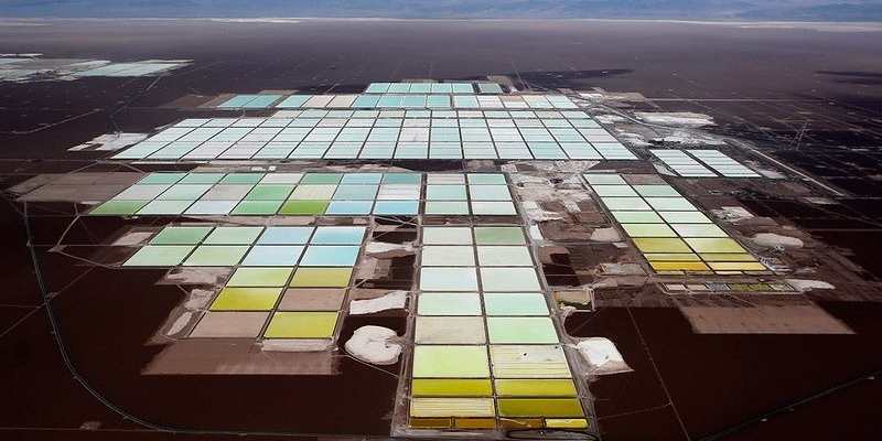 lithium mine in Atacama desert, Chile