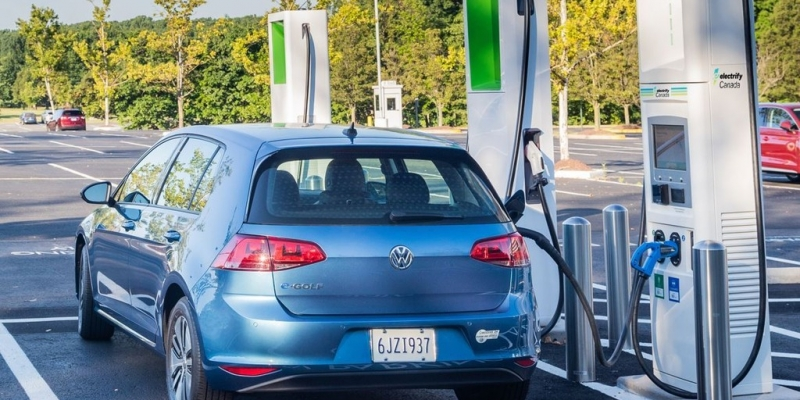 image of Volkswagen Electrify Canada DC fast charger