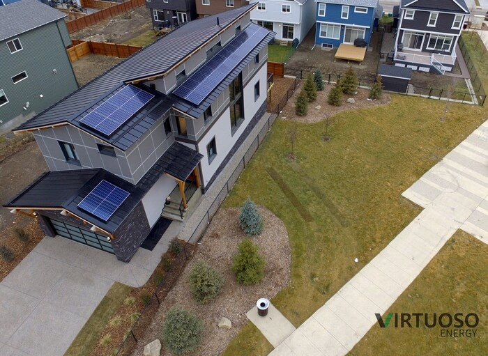house with solar in Calgary